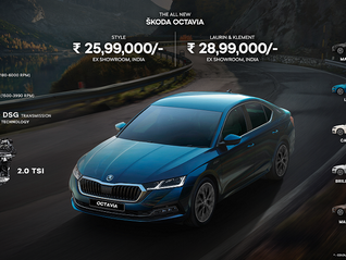 All New Škoda Octavia launched in India at an ex-showroom price of ₹25.99 lacs!