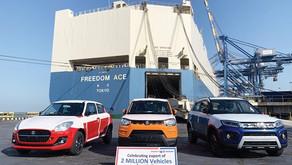 Maruti Suzuki exports cross 2 Million vehicles from India