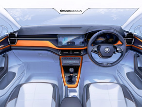 Škoda offers the first preview of the interiors of the upcoming Kushaq!
