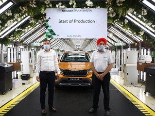 The first unit of the all-new Škoda Kushaq rolled off the production line today at the Pune plant!