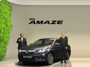 Honda Cars launched the New Amaze at a starting price of ₹6.32 Lakhs