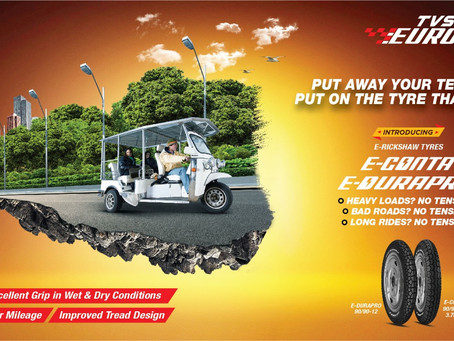 TVS Eurogrip launches eleven new products for Motorcycles, Scooters & E-rickshaws!
