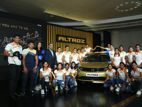 Tata Motors honors Olympians who narrowly missed the podium with an Altroz!