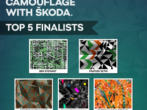 """""""Camouflage with Škoda"""" contest shortlisted designs announced!"""