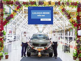 Tata Motors rolls out the 2,00,000th Nexon from its Ranjangaon facility today!