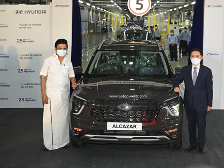 Hyundai Motor India rolls out the fastest '10 millionth' Car!