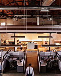 elevated-view-of-staff-working-in-a-busy