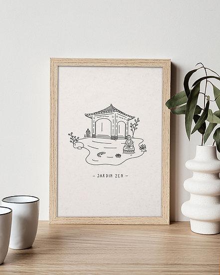 """""""Jardin Zen"""" Print"""