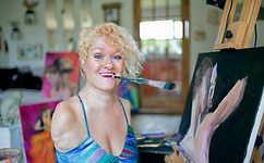Headshot of Alison Lapper MBE Painting