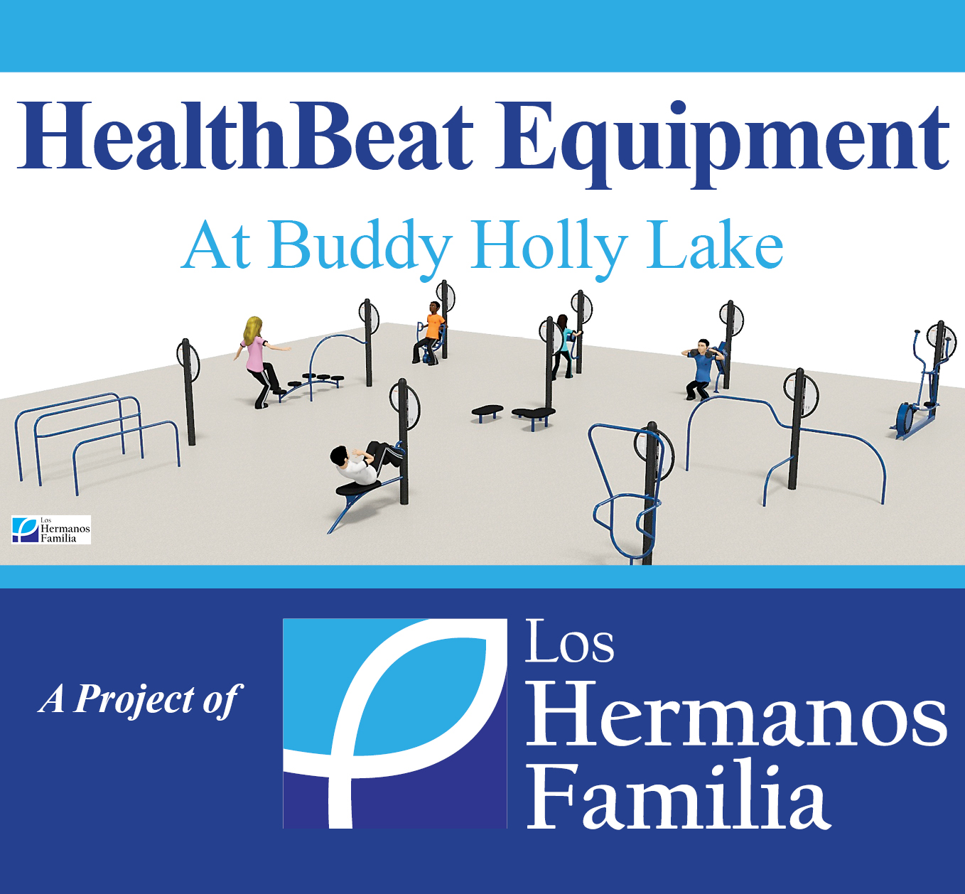 HealthBeat Equipment at Buddy Holly Lake Sponsored by Los Hermanos Familia