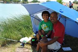 Dad & Son at 3rd Annual Vamos a Pescar