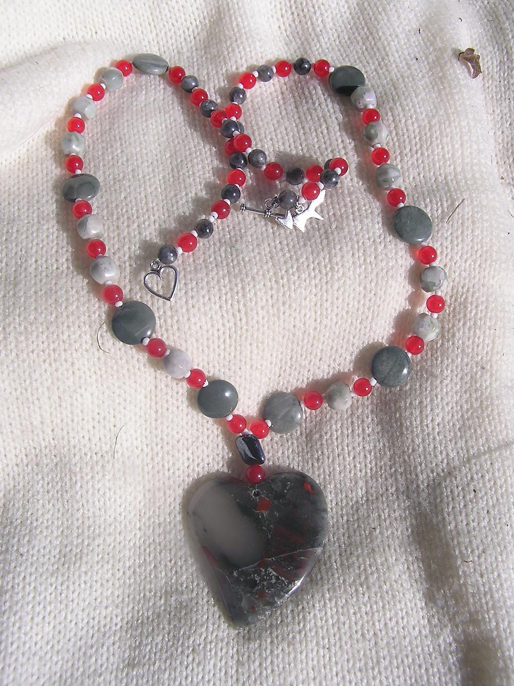 Buckeye Heart Necklace