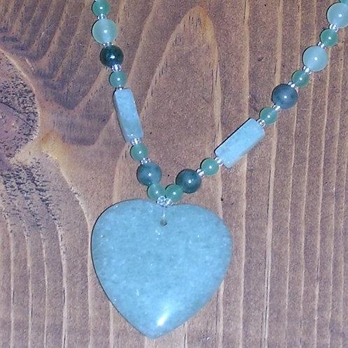 Green Aventurine Heart Set