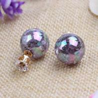Dark Irredecent Pearl Earrings