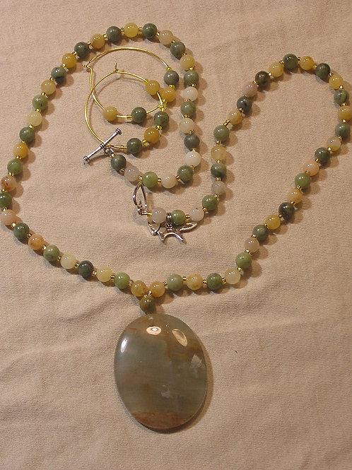 Cherry Quartz Oval Necklace