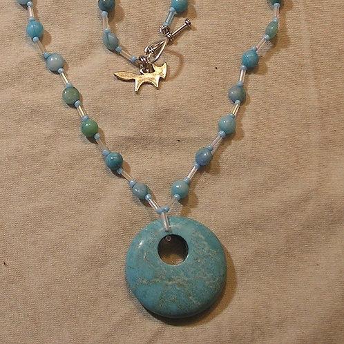 Turquoise Howlite Disc Set