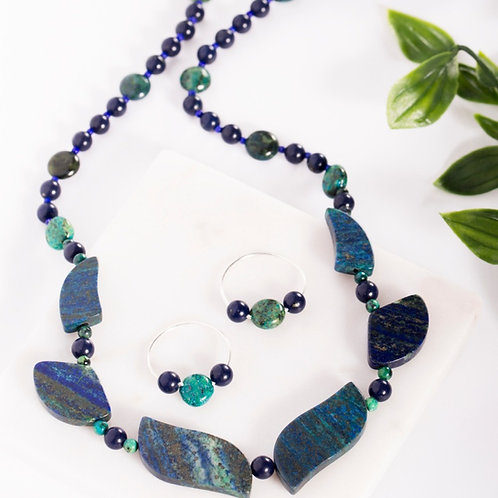 6-Piece Lapis Fan Set