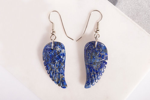 Blue Lapis Wing Earrings
