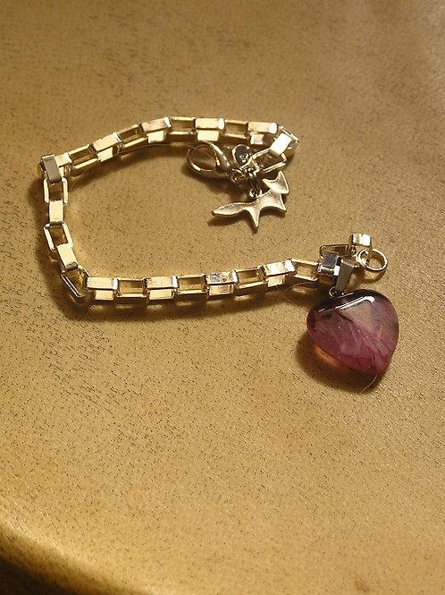 Sterling Silver Box Charm Bracelet