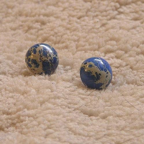 Sapphire Sea Sediment Jasper Earings