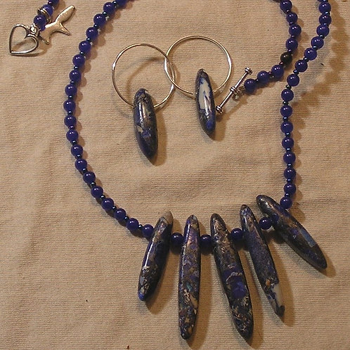 Purple Sea Sediment Jasper Fan Set