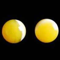 Yellow & White Agate Earrings