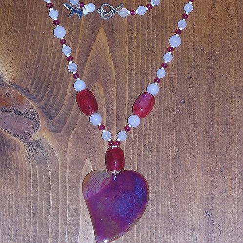 Red Dragonvein Agate Heart Set
