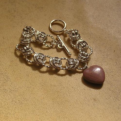 Sterling Rings Charm Bracelet