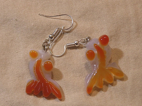 Goldfish Agate Earrings