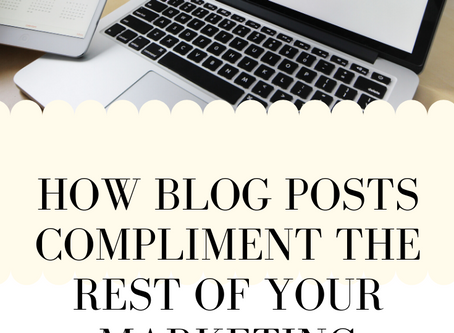 How Blog Posts Compliment The Rest Of Your Marketing Strategy