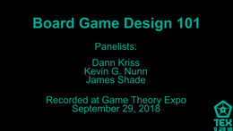 Board Game Design 101