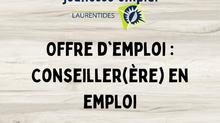OFFRE D'EMPLOI : Conseiller(ère) en emploi