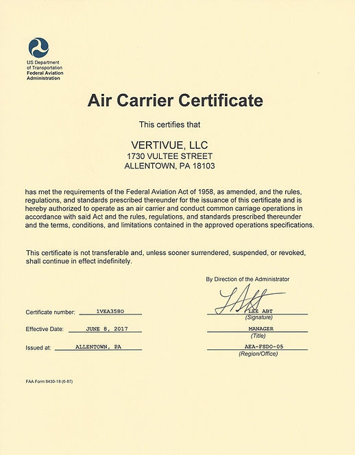 Vertivue Air Carrier Certificate.jpg