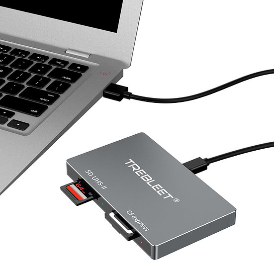 Dual-Slot CFexpress Type B and SD 4.0 UHS-II Card Reader USB 3.2 Gen 2 10Gbps