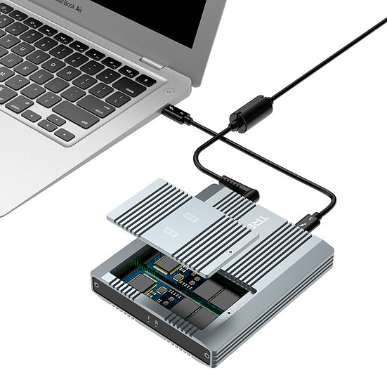 Thunderbolt 3 Two-Slot M.2 NVMe SSD Enclosure Compatible with New M1