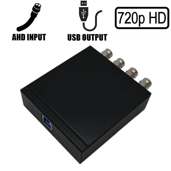 4CH 720P AHD to USB 3.0 Capture Card UVC Playback Card for Live Streaming