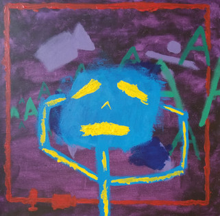 Untitled Abstr (ah sorry my wifi sucks rn), Acrylic on canvas, Oren S., 2021