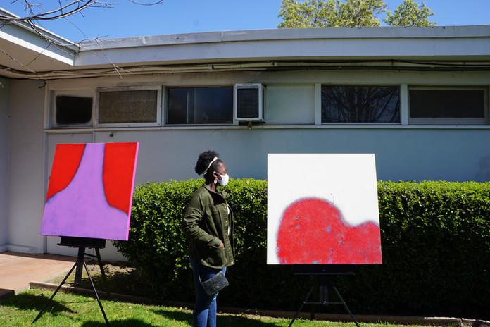 Admiring Marla's Work