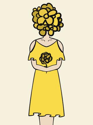 Lady With Flower Head_Rosie Sandomire_2021 - Bill Pete.jpg