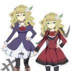 4人のキャラクターデザインと服装差分の制作