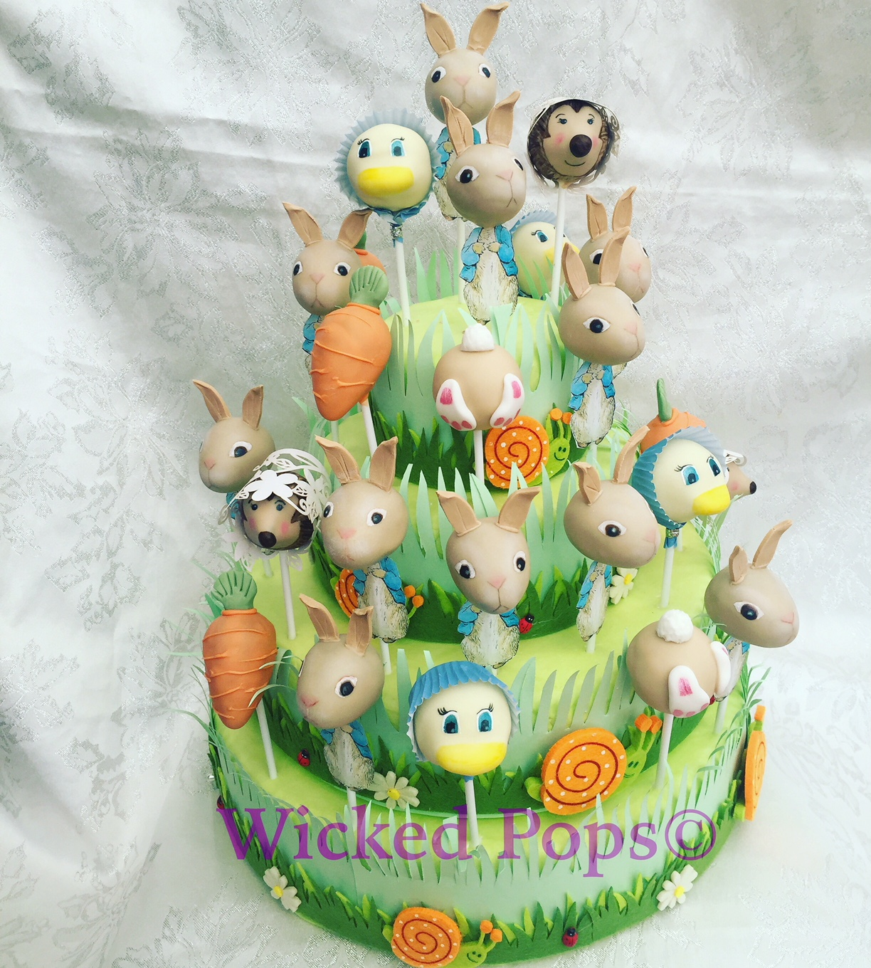 Peter Rabbit Cake Pop Display