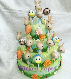 Peter Rabbit Cake Pop Display