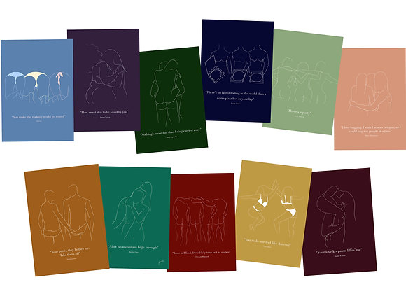 Set of 4 Share The Love Cards