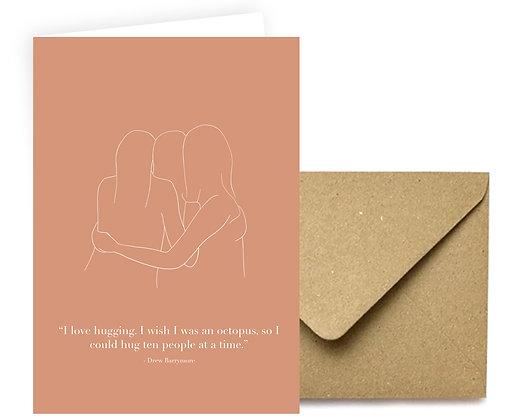 """I Love Hugging"" Card"