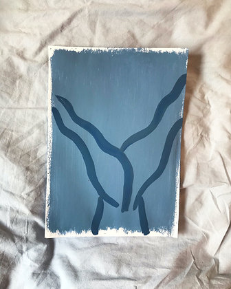 Blue Scissor Kicks
