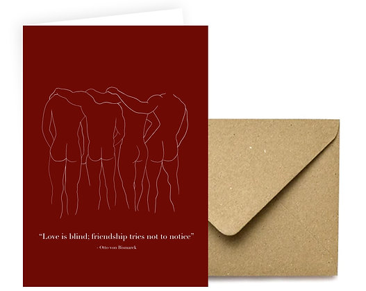 """Love is Blind"" Card"