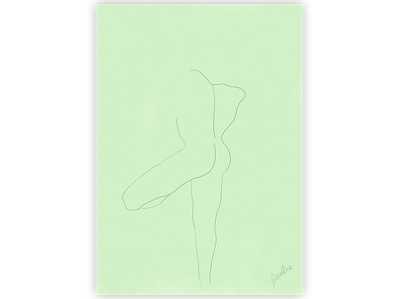 Green Tree Man A5 Postcard