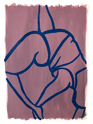 Reverse Dancer's Pose - Lilac