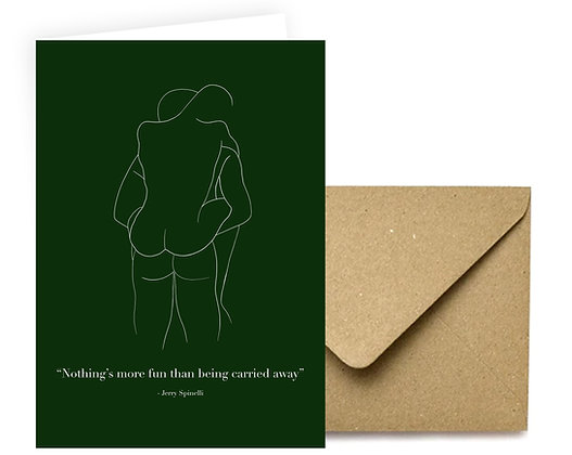 """Being Carried Away"" Card"