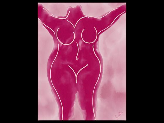 Pink Splash Postcard